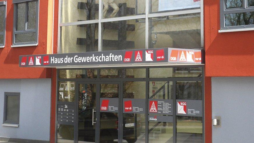 Eingang ver.di Bezirk Augsburg