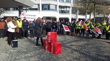 Kundgebung Uni Augsburg