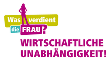 """Logo der DGB-Kampagne: """"Was verdient die Frau?"""""""