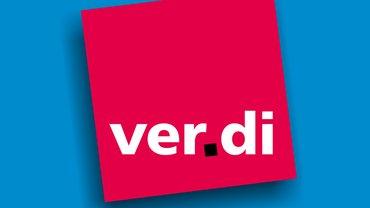 verdi-logo auf blau