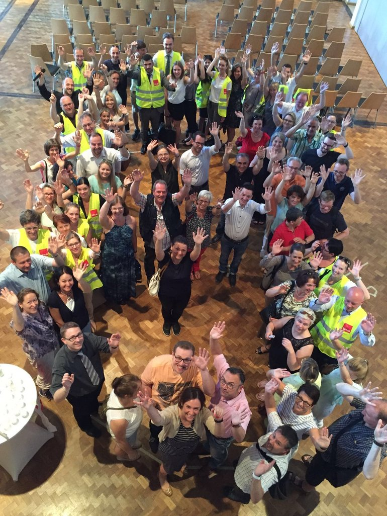 Warnstreik 24.6.2016 HVB und UniCredit in Augsburg