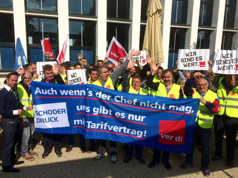 Warnstreik bei Schoder 21.9.2017