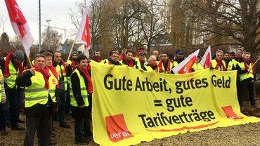 Warnstreik bei Schoder, Gersthofen, 18.12.2017