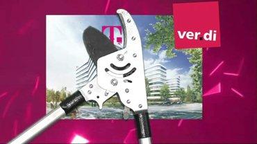 """Titelbild zum Film für die 4. Verhandlungsrunde Telekom Tarifrunde 2018 """"Wir nehmen die Telekom in die Zange"""""""