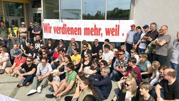 Streik Augsburger Allgemeine am 23.4.2018