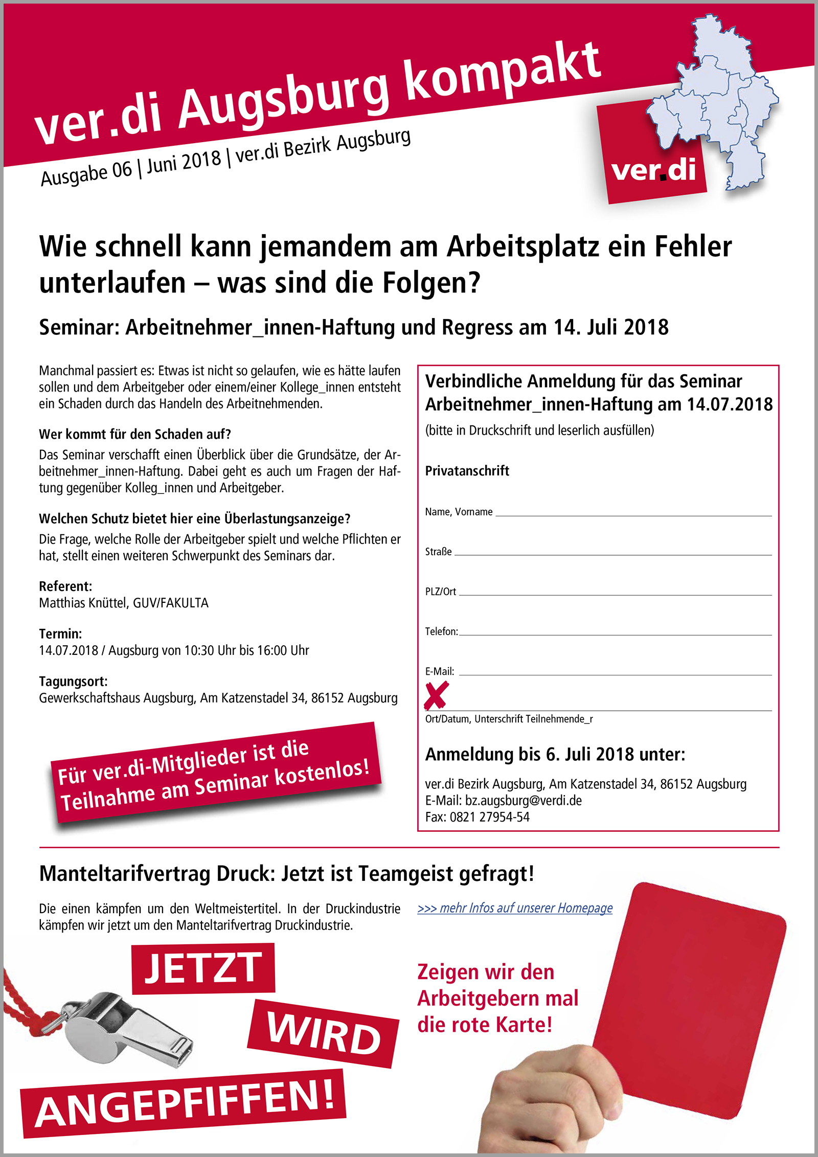 ver.di Augsburg kompakt Ausgabe 03/2018