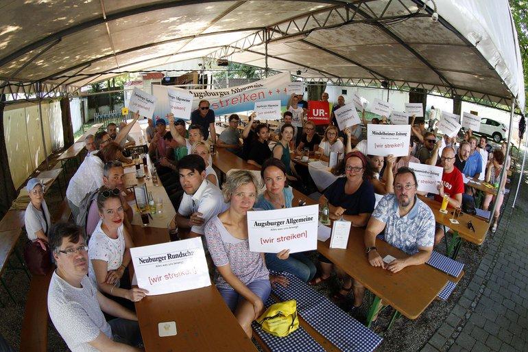Streik + Urabstimmung 21.06.2018 Augsburger Allgemeine