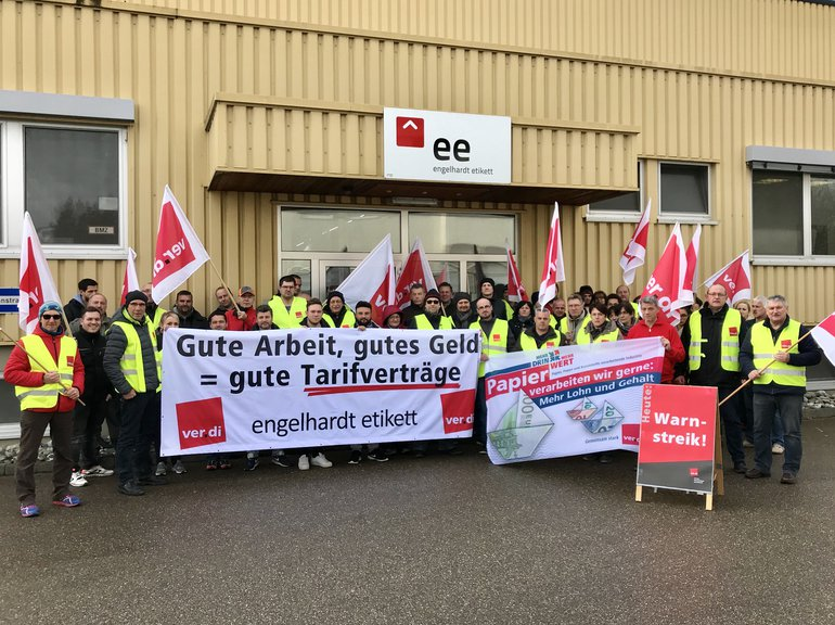 Warnstreik Engelhardt Etikett Nördlingen 11.12.2018