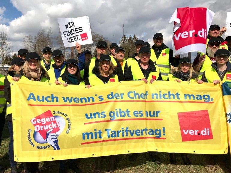 Warnstreik bei Mayer & Söhne, 20.03.2019