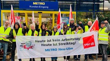 Warnstreik 03.05.2019 bei METRO Neu-Ulm