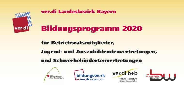 Bildungsprogramm 2020 für Betriebsräte