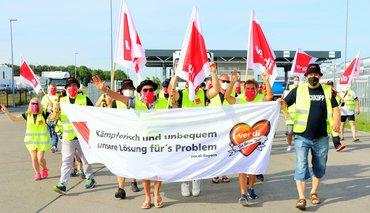 Streik bei LIDL, Graben