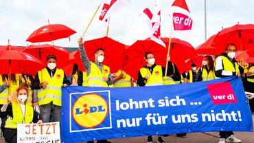 Streik bei LIDL in Graben am 25.06.2021